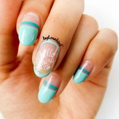 Spring nail art byLovebird  #sping #spingnails #mint #mintnails #hellospring #notd #nails #nailart #nailstamping #stamping #stampingnailart