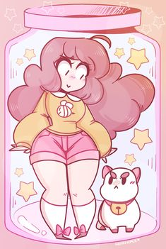 Bee and Puppycat Star Jar Art Print ~ $15