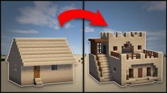 Minecraft: How To Remodel A Desert Village Large House - YouTube