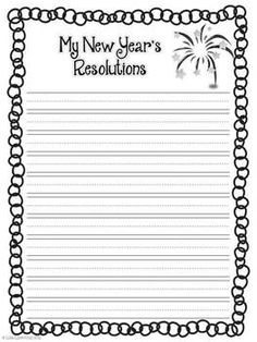 my new year resolution writing paper Tips for writing a successful new year's resolution by  take the time to reflect on the past year on a piece of paper (or e-device), make two columns: one for what events went well and why .