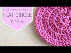CROCHET: How to crochet a flat circle | Bella Coco - YouTube