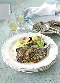Sardines with chermoula: This fresh, flavour-packed chermoula is a perfect match for sardines with with spicy harissa (which is now available from most larger supermarkets). Chermoula is a marinade used a lot in Moroccan cooking.