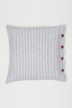 Tyynynpäällinen pellavaa - Valkoinen/Harmaaraitainen - Home All | H&M FI 1