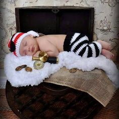 Newborn Pirate Hat Eye Patch and Pants Set Infant Baby Crochet Photography Prop Set Knitted Costume 1set MZS 15068-in Hats & Caps from Mother & Kids on Aliexpress.com   Alibaba Group
