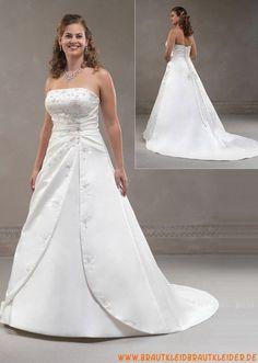 Klassisches Brautkleid aus Satin A-Linie