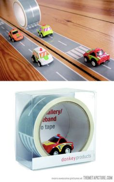 Road tape… my son would love this!