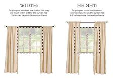 Never lose track of this project! PIN IT and 'Like' it on facebook so you'll always be able to find it.   It's amazing that a few simple adjustments to the way you hang your curtains can transform an entire room. Raising the height of the curtain rod, along with extending the width of the curtains beyond the window frame will give any room the illusion that it's much larger that it really is.  Check it out for yourself…         (adsbygoogle = window.adsbygoogle || []).push({});      …