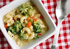 Skinny Macaroni and Cheese Soup with Broccoli  Servings: 5 • Serving Size: 1 cup • Old Points: 6 pts • Points+: 7 pts  Calories: 252.7 • Fat: 9.5 g • Carb: 27.8 g • Fiber: 3.9 g • Protein: 16.8 g • Sugar: 3.5 g  Sodium: 590.4 mg (without salt)