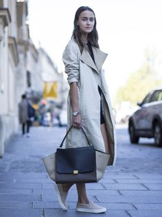 Best dressed at Paris Fashion Week spring/summer 2015 - Telegraph Cool Street Fashion, Love Fashion, Winter Fashion, Womens Fashion, Street Chic, Paris Fashion, Celine, Trench Coat Style, Nice Dresses