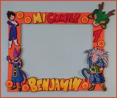 Marco selfie de dragon ball, todo, todo en goma eva, un desafió hacer a goku, la imagen es a petición del festejado :) Ball Birthday Parties, Kids Birthday Themes, Baby Boy 1st Birthday, Birthday Party Decorations, Party Themes, Goku Birthday, Naruto Birthday, Dragon Birthday, Family Party Games