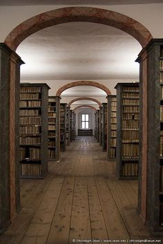 The Historical Library of the Francke Foundations, Halle, Germany - refurbished to look as it did in 1746.
