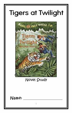 Tigers at Twilight: Magic Tree House #19 Novel Study / Reading Comprehension from McMarie on TeachersNotebook.com -  (26 pages)  - A fun, engaging, 26-page booklet-style Novel Study complete with a challenging, book-based Word Jumble and Word Search. Based on Mary Pope Osborne's 'Magic Tree House #19: Tigers at Twilight.'