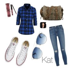 """""""Kat"""" by hpwho ❤ liked on Polyvore featuring Frame Denim, Converse, Christian Dior and Kylie Cosmetics"""