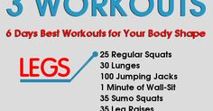 Losing Weight For All: 6 Days Workouts for Your Body Shape