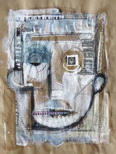 "Saatchi Art Artist enrico varrasso; Painting, ""mask"" #art"
