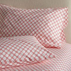 Set of 2 Genevieve King Pillowcases    Crate and Barrel