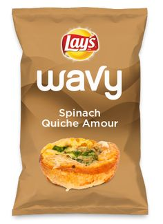 Wouldn't Spinach Quiche Amour be yummy as a chip? Lay's Do Us A Flavor is back, and the search is on for the yummiest flavor idea. Create a flavor, choose a chip and you could win $1 million! https://www.dousaflavor.com See Rules.