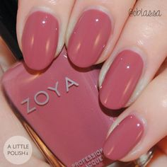 Madeline from the Zoya Naturel Deux Collection Late Summer / Early Fall Transitional Shades A Little Polish Manicure Nail Designs, Nail Manicure, Opi Nails, Nail Paint Shades, Revlon Nail Polish, Cute Gel Nails, Fall Nail Colors, Summer Nails, Fall Nails