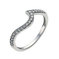 Perfect Fit 9ct White Gold 17.5 Point Diamond Shaped Ring - Product number 9438068