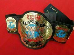 ECW World Heavy Weight Wrestling Championship Belt Adult Size for sale online Wwe Championship Belts, World Heavyweight Championship, World Championship, Wwe Accessories, Wwe Belts, Professional Wrestling, Ufc, Kobe, Childhood Memories