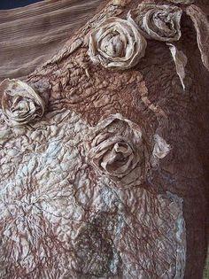Валяное платье Hot Chocolate - цветочный,нуно-фелтинг,одежда для женщин