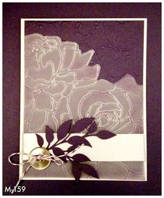 Copied this on Pinterest. Handmade embossed card.