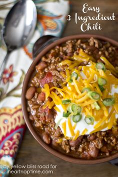 The easiest way to make chili #Food #Chili