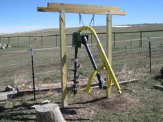 post hole digger stand tractors - Google Search