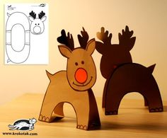 Rudolph de cartulina para imprimir