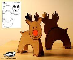 DIY Paper reindeer for Cathy Roberts Preschool Christmas, Noel Christmas, Christmas Crafts For Kids, Christmas Activities, Christmas Printables, Winter Christmas, Holiday Crafts, Holiday Fun, Christmas Decorations