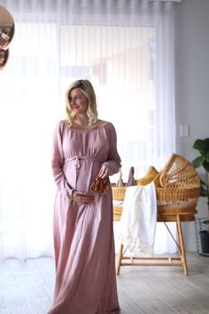 Numero74 Nina Dress in Dusty Pink.