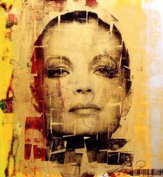 """Un ritratto di Romy Schneider dal titolo """"Romy Classic"""" (opera di Andreas Reimann)."""