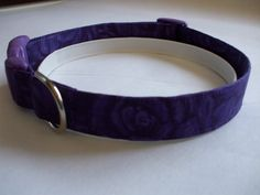 Handmade Cotton Dog Collar  Purple Roses Cystic by WalkingTheDog