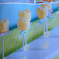 Marshmallow pops - baby rattles:)