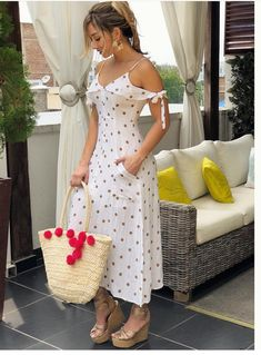 Leopard V Neck Spaghetti Strap Maxi Dress Cute Dresses, Beautiful Dresses, Casual Dresses, Casual Outfits, Dress Outfits, Fashion Dresses, Summer Outfits, Summer Dresses, Mode Style