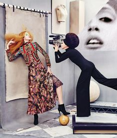 """""""The Art of Fashion"""" Pat and Anna Cleveland for Neiman Marcus September 2016 Lookbook"""