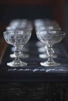 Crystal Champagne Coupes C.1870
