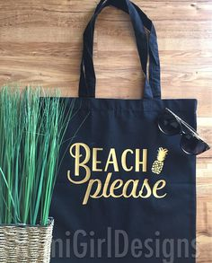 Such a cute tote to carry around for those daydreaming that they are at the beach! Our tote can be customized with a variety of fonts and colors to match your needs. Want a different saying on the tote bag? No problem! Start a conversation with the seller and lets create something