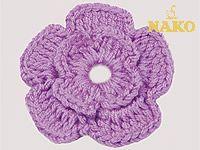 Çiçek Motifi Yapımı / Tığ Öğreniyorum / Nako18