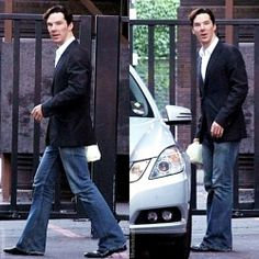 Benedict IN JEANS AND SUIT JACKET you perfect jerk look at you <-- my FAVORITE outfit for a guy...in like the history of EVER!