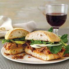 Aleppo-Pepper-Pork-and-Fennel Sandwiches Chef Recipes, Pork Recipes, Wine Recipes, Fennel Recipes, Delicious Sandwiches, Wrap Sandwiches, Party Sandwiches, Delicious Food, Roast Pork Sandwich