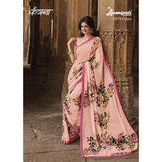 Find the Multicoloured Shadow Georgette Saree featuring Rawsilk Lace, Thread and Sequenced work from ‪#‎Laxmipatisarees‬ Order now@ http://bit.ly/1r3yEdz E-mail :info@laxmipati.com
