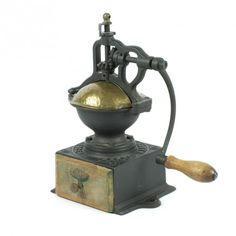 la Bodega Antiques. Antique Coffee Grinder French PEUGEOT FRERES A0 Cast Iron. Smallest model A grinder.