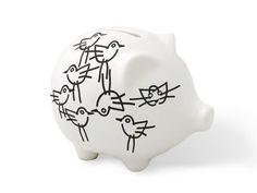 Notneutral Piggy Bank In Chick - 14371900 Modern Nursery Cute Piggies, Great Hobbies, Coffee Cups, Cool Designs, Nursery, Porcelain, Piggy Banks, Pigs, Count