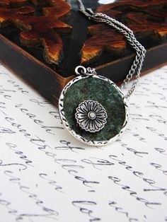 Elena's Felted Jewelry  Emerald Dark Green Marble by elenasfelting, $25.00
