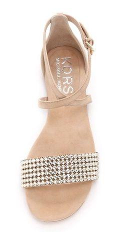 KORS Michael Kors Adia Jeweled Flat Sandals | SHOPBOP