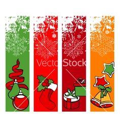 Four vertical winter banners vector art - Download vectors - 603271
