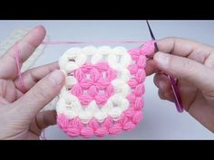 How to tell someone you love them link new Ideas Crochet Girls Dress Pattern, Crochet Baby Poncho, Crochet Square Blanket, Crochet Shirt, Free Crochet, Hand Work Embroidery, Crochet Stitches Patterns, Arm Knitting, Crochet Videos