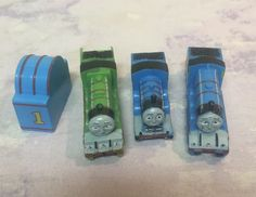 Thomas & Friends lot of 3 MINI Figures Small Trains Rubber PVC Cake Toppers #GullaneLimited