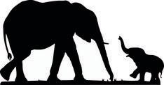 Résultat d'images pour Mom and Baby Elephant Cartoon Clip Art Elephant Stencil, Elephant Outline, Elephant Silhouette, Elephant Art, Elephant Paintings, Silhouette Painting, Silhouette Clip Art, Silhouette Images, Animal Silhouette